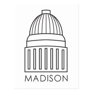 Hauptstadts-Gebäude Madisons Wisconsin Postkarte