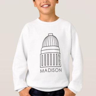 Hauptstadts-Gebäude Madisons Wisconsin Sweatshirt