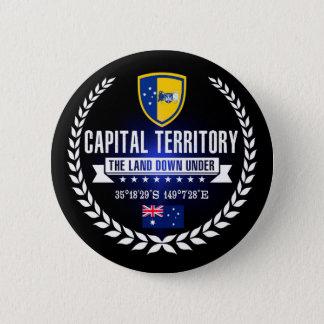 Hauptstadts-Gebiet Runder Button 5,7 Cm