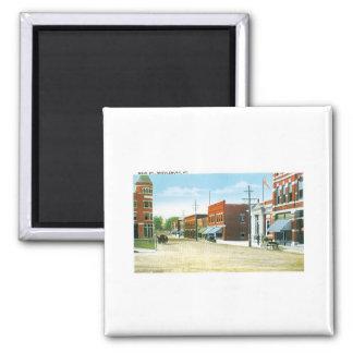 Hauptstraße, Middlebury, Vermont Quadratischer Magnet