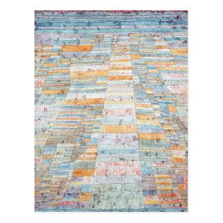 Hauptweg und Seitenwege durch Paul Klee Postkarte