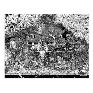 Haus am Ende des Wegs Postkarte