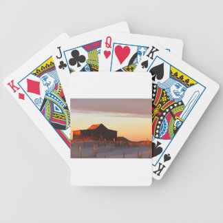 Haus an Sonnenuntergang - 1 Bicycle Spielkarten
