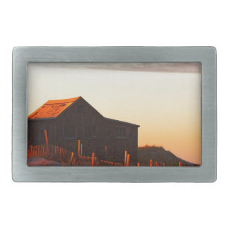 Haus an Sonnenuntergang - 1 Rechteckige Gürtelschnalle