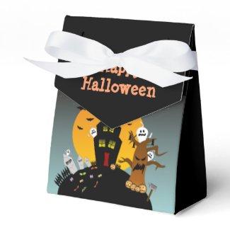 Haus-Bevorzugungs-Kasten Halloweens Spuk Geschenkschachtel