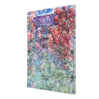 Haus Claudes Monet   bei Giverny unter den Rosen Leinwanddruck