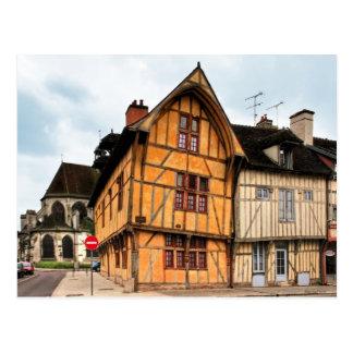 Haus des Delphins in Postkarte Troyes Frankreich