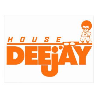 Haus-Diskjockey Postkarte