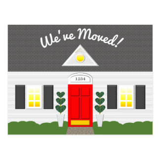 Haus-Fassaden-neue Adressen-Postkarte Postkarte