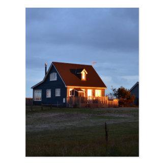 Haus hinter den Dünen Postkarte