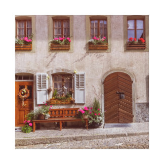 Haus im Gruyeredorf, die Schweiz Leinwanddruck