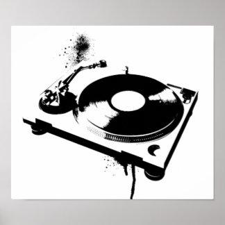 Haus-Musik-Geschenke des Diskjockey Poster