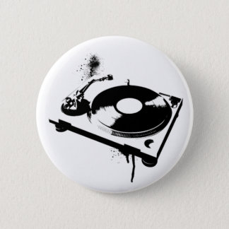 Haus-Musik-Geschenke des Diskjockey Runder Button 5,7 Cm