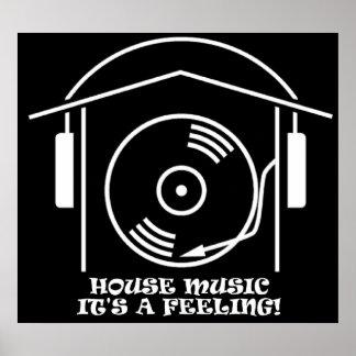 Haus-Musik-Plakat