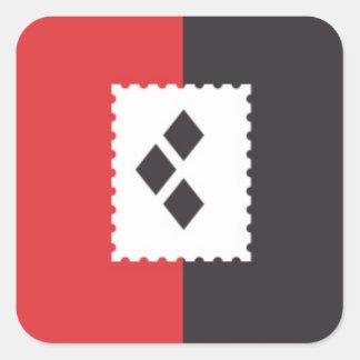 Haus-Quinn-Aufkleber Quadratischer Aufkleber