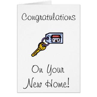 Haus-Schlüssel Mitteilungskarte