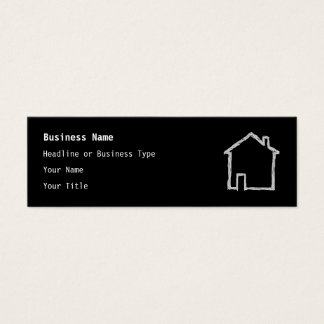 Haus-Skizze. Grau und Schwarzes Mini Visitenkarte
