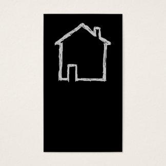 Haus-Skizze. Grau und Schwarzes Visitenkarte
