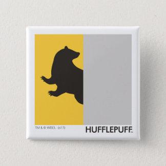 Haus-Stolz-Grafik Harry Potters   Hufflepuff Quadratischer Button 5,1 Cm