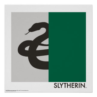 Haus-Stolz-Grafik Harry Potters | Slytherin Poster
