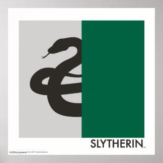 Haus-Stolz-Grafik Harry Potters | Slytherin Poster