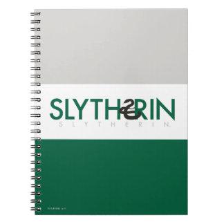 Haus-Stolz-Logo Harry Potters | Slytherin Spiral Notizblock