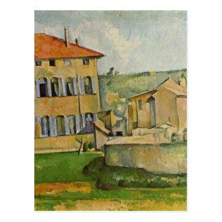 Haus und Bauernhof bei Jas de Bouffan durch Paul Postkarte