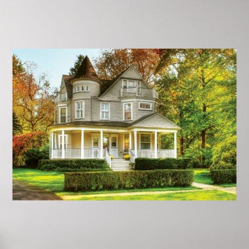 Haus viktorianisches traumhaus plakat zazzle for Viktorianisches haus