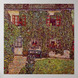 Haus von Guardaboschi durch Klimt, Vintage feine Poster