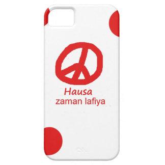 Hausa-Sprache und Friedenssymbol-Entwurf iPhone 5 Etui