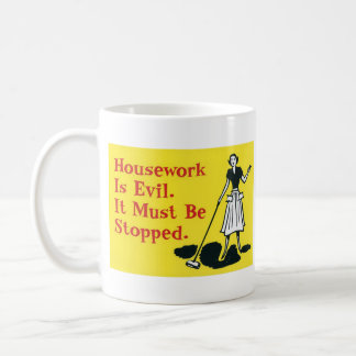 Hausarbeit ist schlecht kaffeetasse