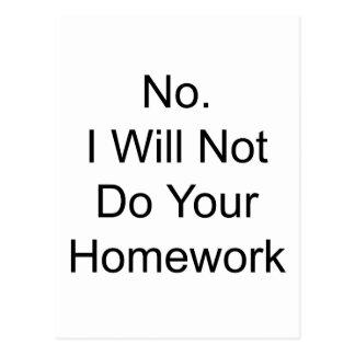 Hausaufgaben Postkarte