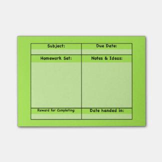 Hausaufgaben-Projekt-Post-Itanmerkungen Post-it Klebezettel