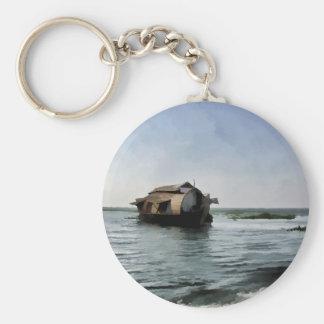 Hausboot in Kerala in der Salzwasserlagune Schlüsselanhänger