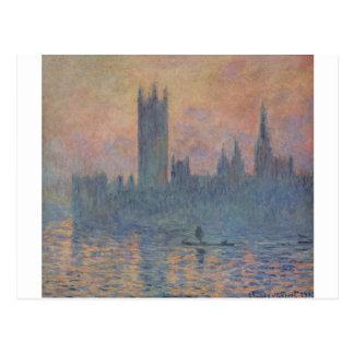 Häuser des Parlaments im Winter durch Claude Monet Postkarte