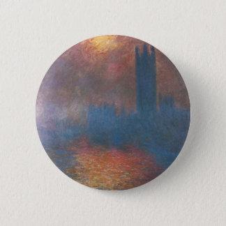 Häuser des Parlaments, London durch Claude Monet Runder Button 5,7 Cm