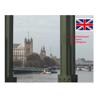 Häuser des Parlaments, London Vereinigtes Postkarte