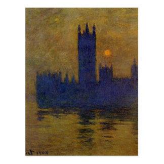 Häuser des Parlaments, Sonnenuntergang 02 durch Postkarte