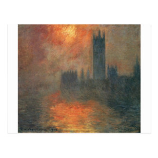 Häuser des Parlaments, Sonnenuntergang durch Postkarte