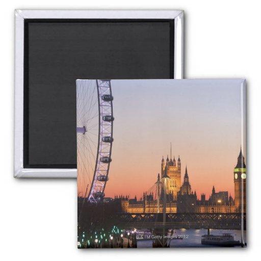 Häuser des Parlaments u. des London-Auges Kühlschrankmagnete