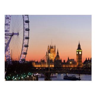 Häuser des Parlaments u. des London-Auges Postkarte