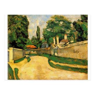 Häuser entlang einer Straße durch Paul Cezanne Postkarte