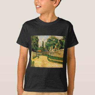 Häuser entlang einer Straße durch Paul Cezanne T-Shirt