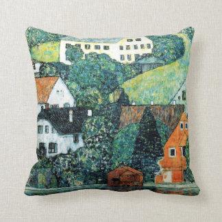 Häuser Gustav Klimt bei Unterach auf dem Attersee Kissen