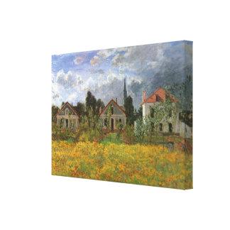 Häuser in Argenteuil durch Claude Monet, Vintage Leinwanddruck