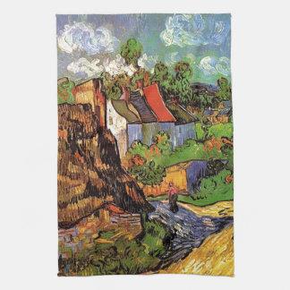 Häuser in Auvers, Vincent van Gogh. Dorf Handtuch