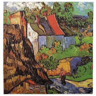 Häuser in Auvers, Vincent van Gogh. Dorf Stoffserviette