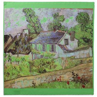 Häuser in Auvers, Vincent van Gogh. Stoffserviette