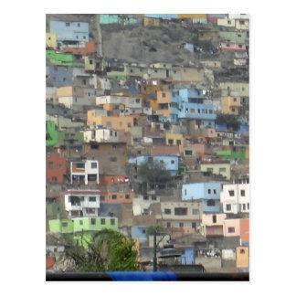 Häuser in Peru Postkarte