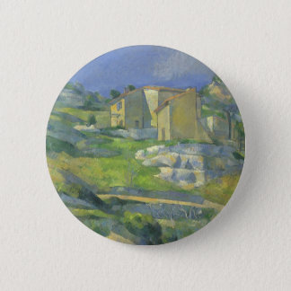 Häuser in Provence durch Paul Cezanne, Vintage Runder Button 5,1 Cm